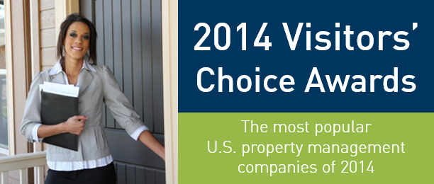 2014 Visitors' Choice Awards - the most popular U.S. property managers of 2014
