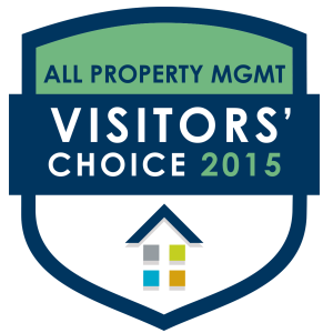 Badge for winners of the 2015 Visitors' Choice Awards